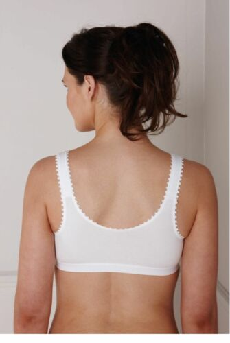 Royce Womens Caress ComfiBra Post Surgery and Mastectomy White 1010 34D//DD 32D