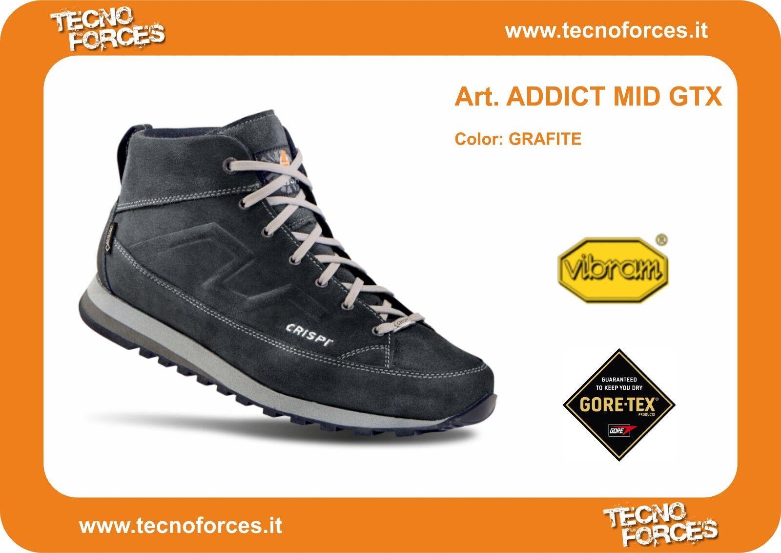 Scarpa Crispi Addict Mid GTX goretex Italy Urban outdoor made in Italy goretex sneakersGRAFITE c34b24