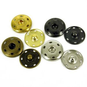 25MM-PRESS-STUDS-POPPERS-SNAP-FASTENERS-ANITIQUE-SILVER-GREY-GOLD