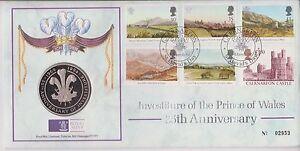 GB-QEII-PNC-1994-investidura-principe-de-Gales-cubierta-y-monedas-Medalla-Royal-Mint
