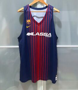 Nike Fcb Barcelona Lassa Basketball Team Issue Vapor Jersey Fiba Euroleague 54 2 Ebay