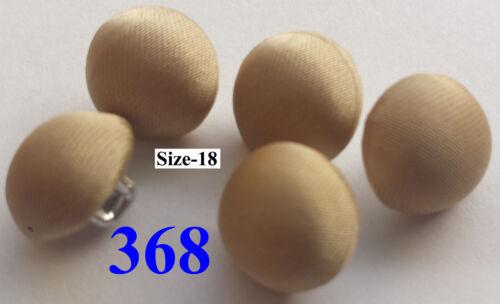 90 Botones De Botón Hecho A Mano Botones De Seda cubierto de tela Artesanía Coser Tamaño 18//11mm