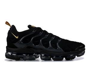 f01ccf846a1c Image is loading Nike-Air-VaporMax-Plus-Black-Metallic-Gold-BQ5068-