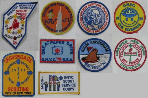 Greater New York Councils (NY) Lot of 8 Activity Patches BSA #025