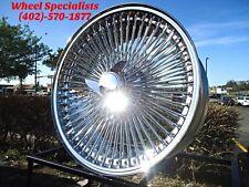 "15"" Chrome wire wheels Cadillac Eldorado, Deville, Seville, Jaguar XJ, Spoke (4)"