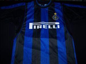 Inter Milan Soccer Jersey FC Football Pirelli  21 black blue striped ... ffe0ba2ba