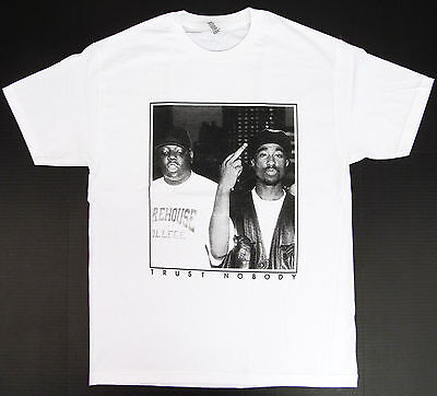 TUPAC BIGGIE TRUST NOBODY T-shirt NOTORIOUS B.I.G 2PAC Tee Adult S-3XL Black New