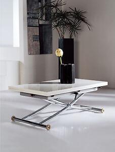 Design Tisch Couchtisch Esstisch Olimp Hochglanz Höhenverstellbar