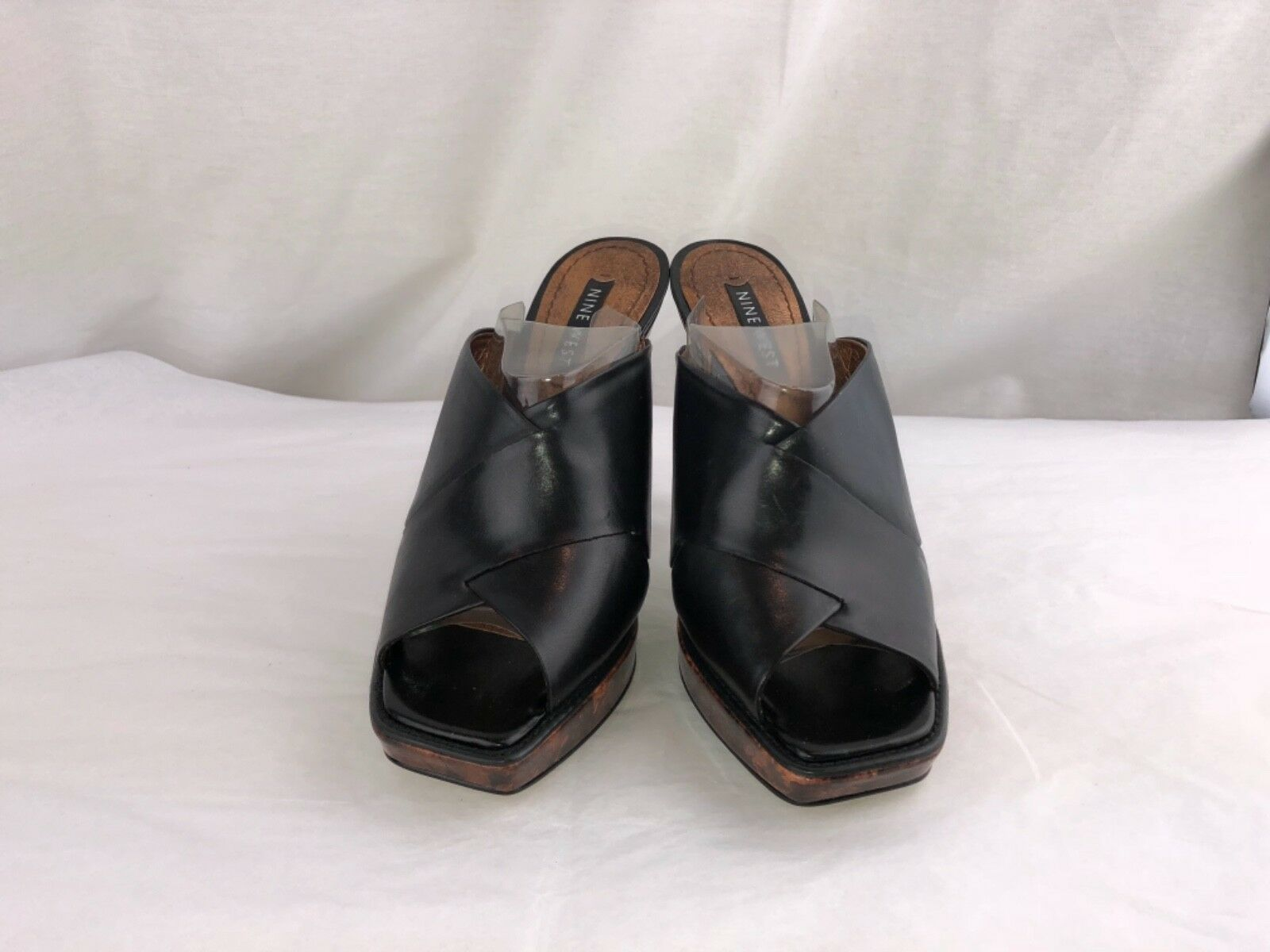 663ff717286 Nine West women s NWinguanti Black slipper high heel shoes 7.5M leather  ohgbwt2673-Women s Heels