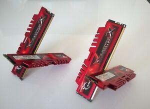 Kit 8GB G.SKILL RIPJAWS X DDR3 1600Mhz 4 x 2GB Rouge
