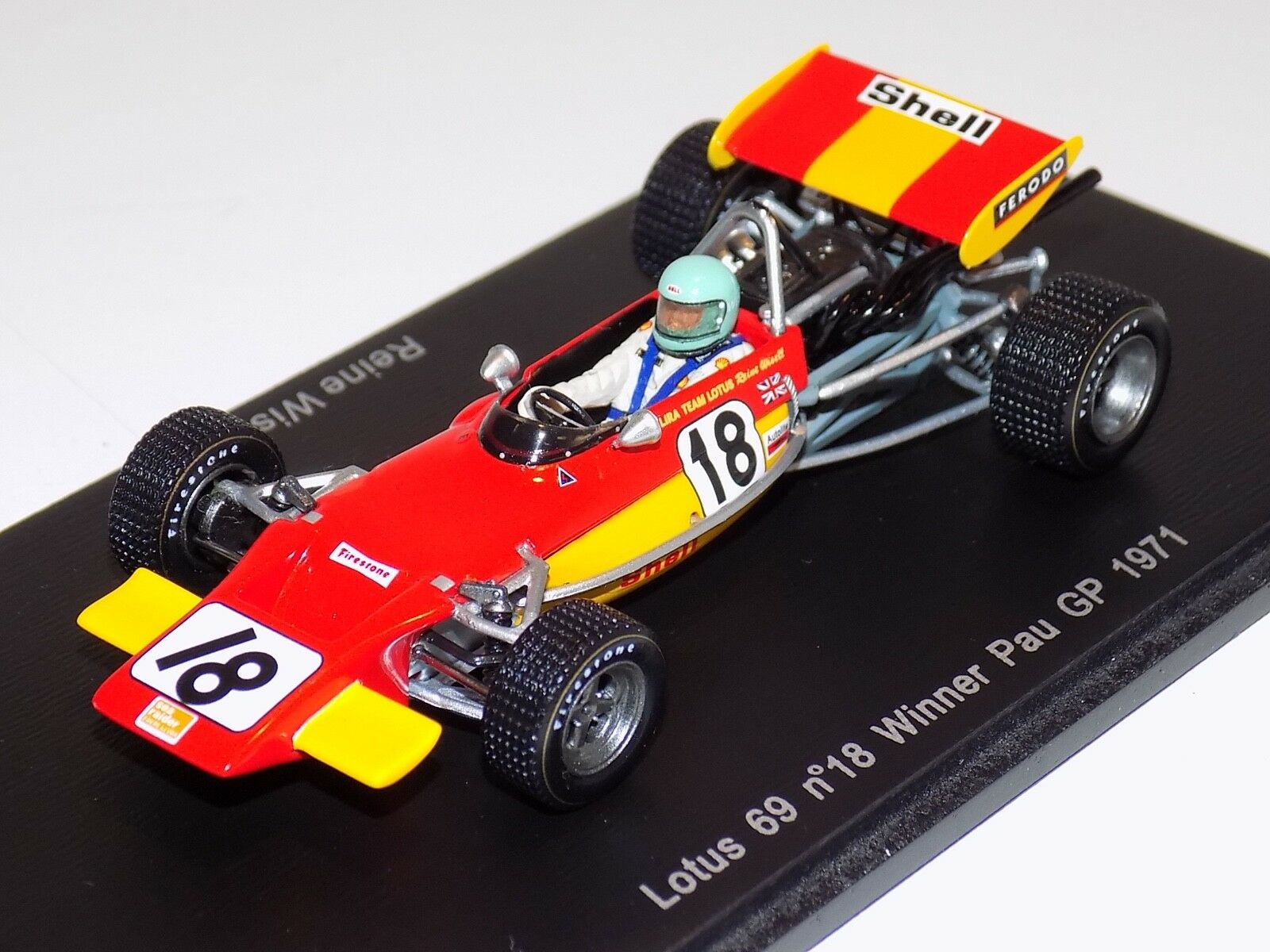 1 43 Spark Lotus 69 F2 car Winner of Pau GP 1971 Reine Wisell S2147