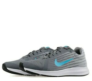Details zu Juniors Nike Downshifter 8 GS Trainers Grey Blue White 922853 012 UK 5 EU 38