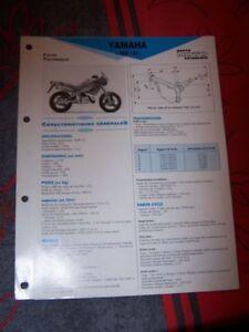 1c - Fiche Technique Moto Rmt Etai Yamaha Tdr 125 Ke44pswv-08003354-666309800