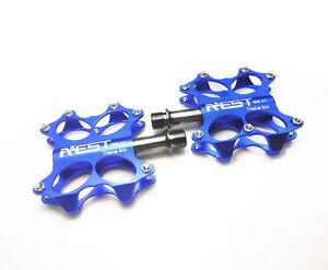 One Pair Titanium Spindle Ti Axle AEST CNC Bike MTB BMX Flat Platform Pedals