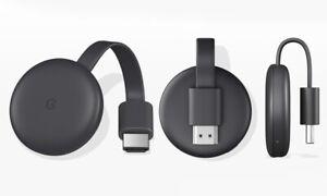 Black Google Chromecast Streaming Media Device 3rd Generation