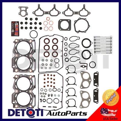 Head Gasket Set Fix For 99-10 Saab Subaru 2.5L H4 Engine Code EJ25 Graphite Kit