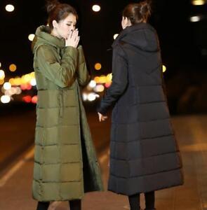 à coton coton en capuche pour capuche long femmes Manteau à en FBtwqg44