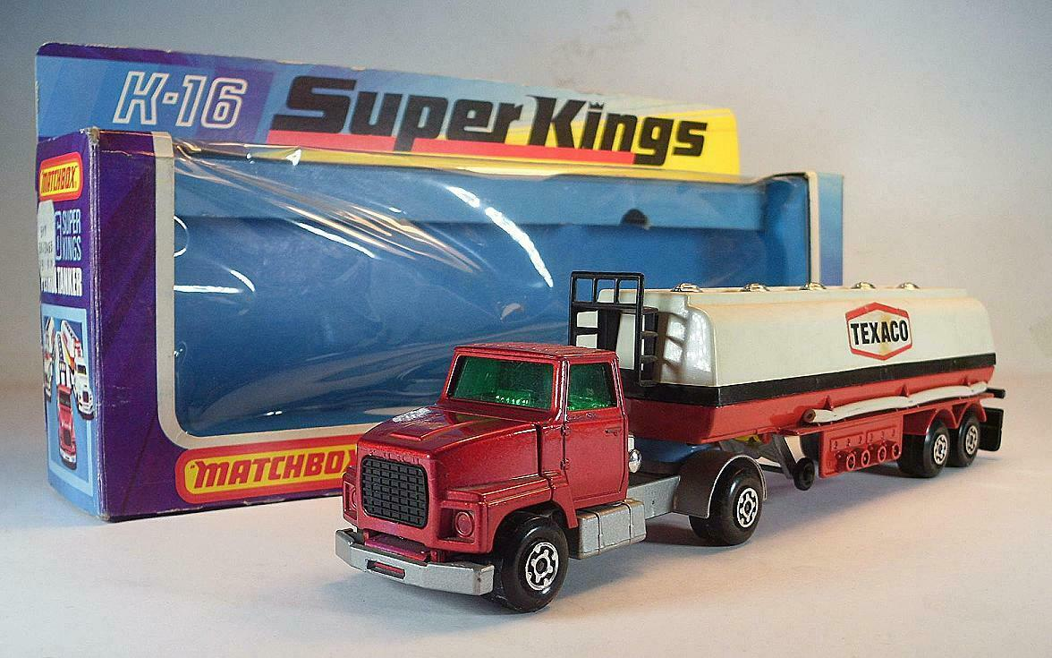 MATCHBOX Super Kings k-16 articulated Petrol petroliere autocisterna Texaco OVP  640