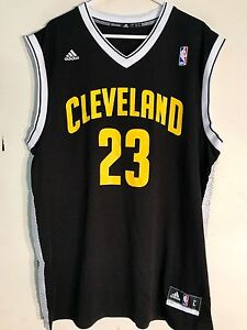 Image is loading Adidas-NBA-Jersey-Cleveland-Cavaliers-LeBron-James-Black- fbed27b32
