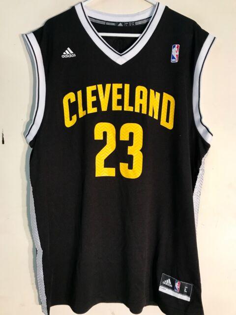 online store d8ec9 108c8 adidas NBA Jersey Cleveland Cavaliers Lebron James Black Alt Sz XL