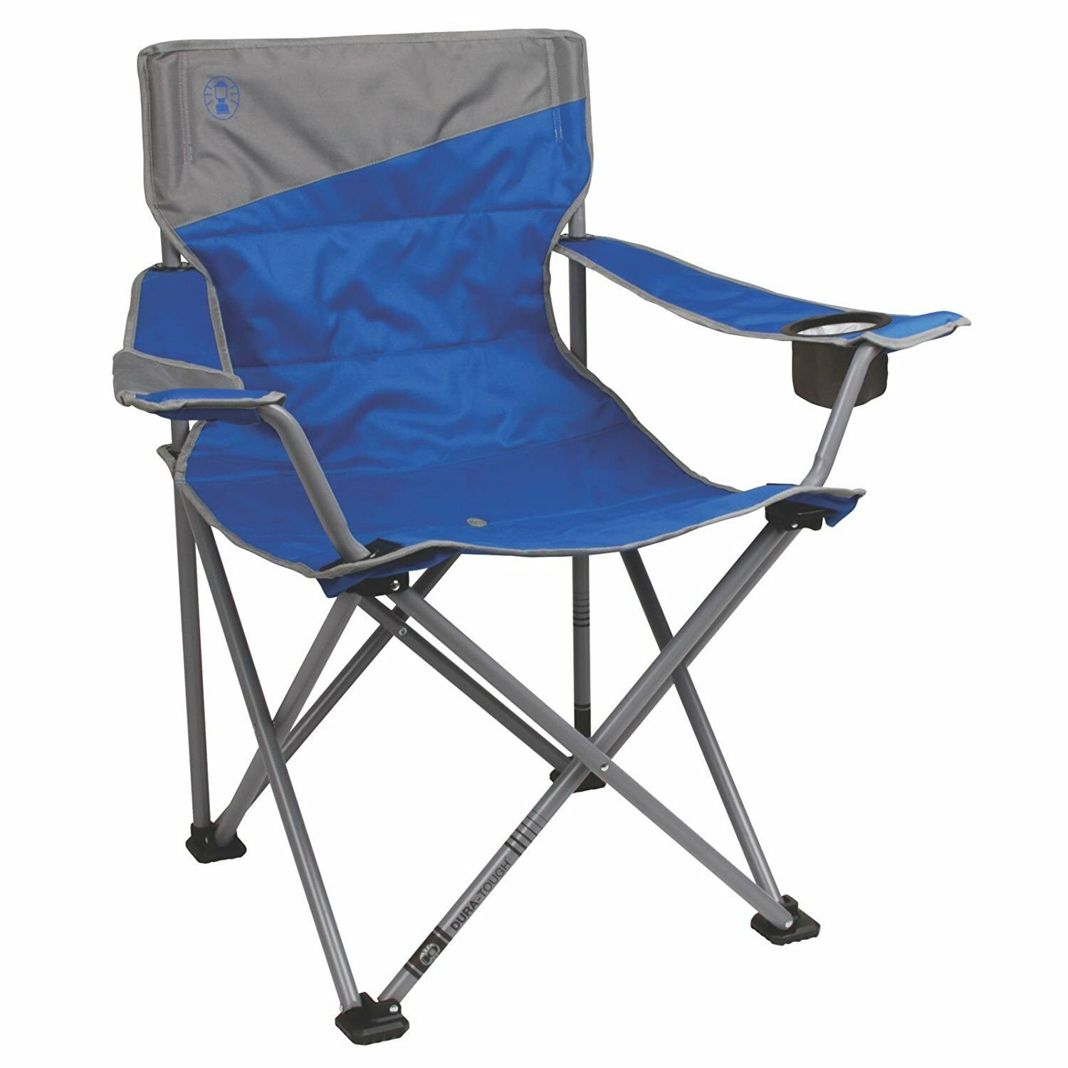 Heavy Duty Big and Tall Beach Camping Quad Chair With Cup Holder Holds 600 Lbs