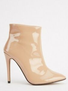f936b7d73c5c9 Details about Sergio Todzi Size 3 4 6 7 8 Nude Patent PVC High Heel Ankle  Boots 36 37 39 40 41