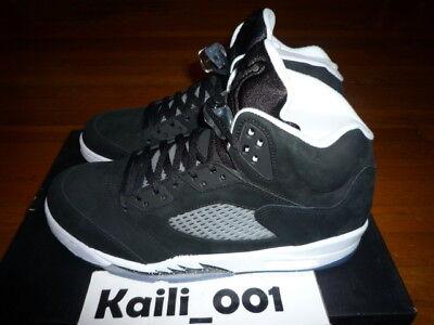 e7d4f2fb7181 Nike Air Jordan 5 Retro Size 11.5 Oreo 146027-035 LS Grape Fire Red ...