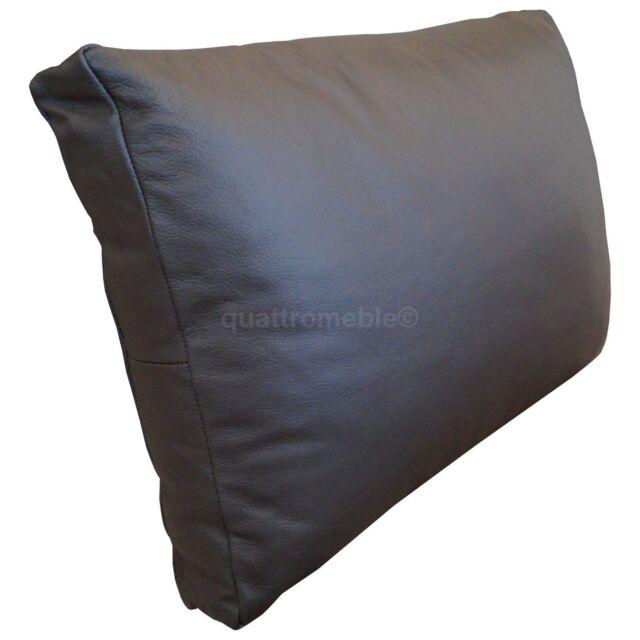 Beau Real Genuine Dark Brown Leather Cushions Pillows Sofa Couch Cushion Covers