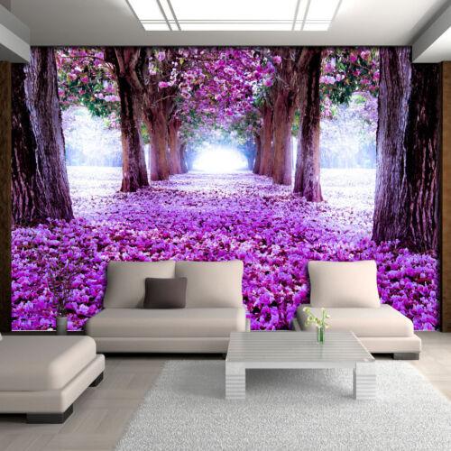 Papier Peint papiers peints photos papier peint poster Mur Photo Nature Chemin Alley fleurs 14n2379p8