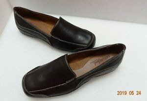Natural-Soul-by-Naturalizer-Flats-Camilia-Oxbrown-Sz-9M-Leather-Slip-On-Loafers