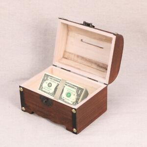Wooden-Pirate-Treasure-Chest-Vintage-Money-Storage-Box-Case-Piggy-Bank