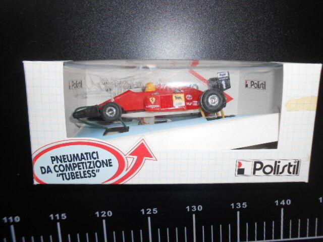 POLISTIL 1/32 F1 PISTA AUTO Ferrari Tubeless F 1 Racing Rare
