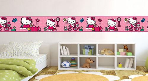 HELLO KITTY Wallpaper Border Self Adhesive Children Bedroom Wall Decals 6