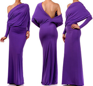 PURPLE-MULTIWAY-Reversible-PLUNGING-Convertible-MAXI-DRESS-S-M-L-1X-2X-3X