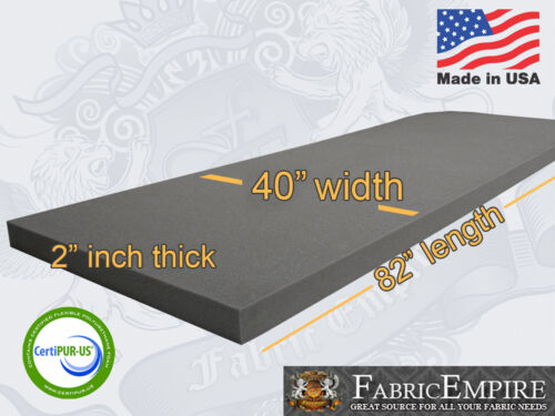 "40/""x82/"" Firm Rubber Foam Sheet Premium Seats Cushion Upholstery USA MADE NF33"