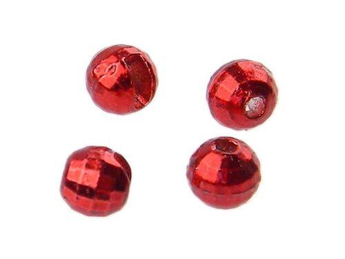 Metallic Red 10 Stück Fliegenbindematerialien Reflex Slotted Tungsten Beads