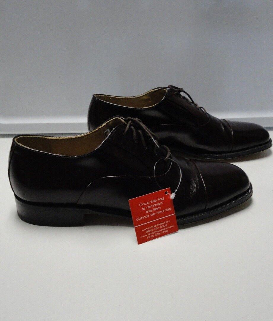 NORDSTROM Dark Brown Leather Men's Cap Toe Oxford Dress shoes Size 10M B4528