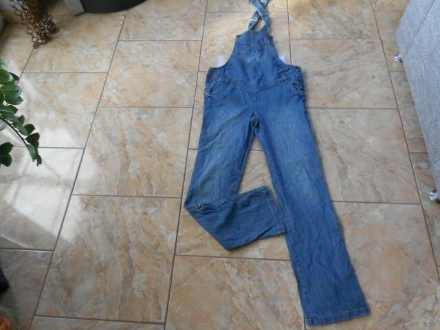 H3526 C & A Latzhose Jeans 38 Mittelblue  Gut