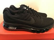 Men Nike Air Max 2017 Black Running Shoes Sz 10