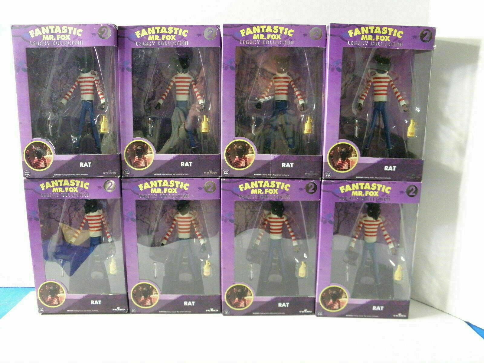 (8) Funko Fantastic Mr. Fox Rat Legacy samling Figures Sällsynta förseglade