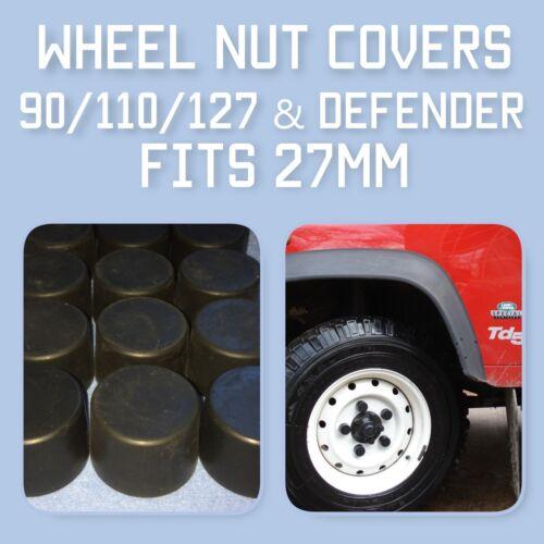Lot de 3 Wheel Nut Covers for Land Rover Defender 90//110//127//130
