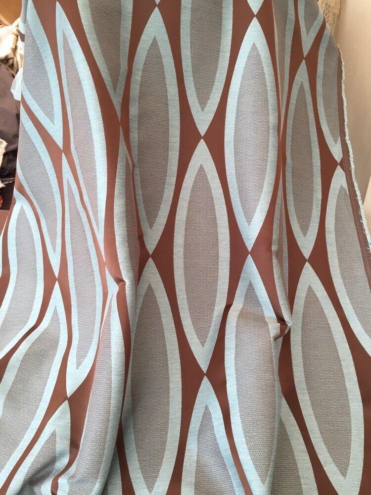 Designer qualità pesante tessuto per Tende Cioccolato Uovo d'Anatra 60  Wide 40 metri rossoolo