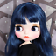 Blythe-Nude-Doll-from-Factory-Dark-Blue-Long-Curly-Hair-With-Make-up-Eyebrow thumbnail 1