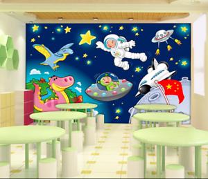 3D Animal Astronauts 7 Wall Paper Murals Wall Print Wall Wallpaper Mural AU Kyra