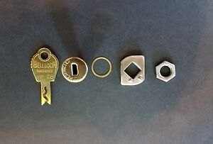 DUNCAN//MILLER 60//76 PARKING METER MALE//FEMALE LOCK CYLINDERS WITH MATCHING KEY.
