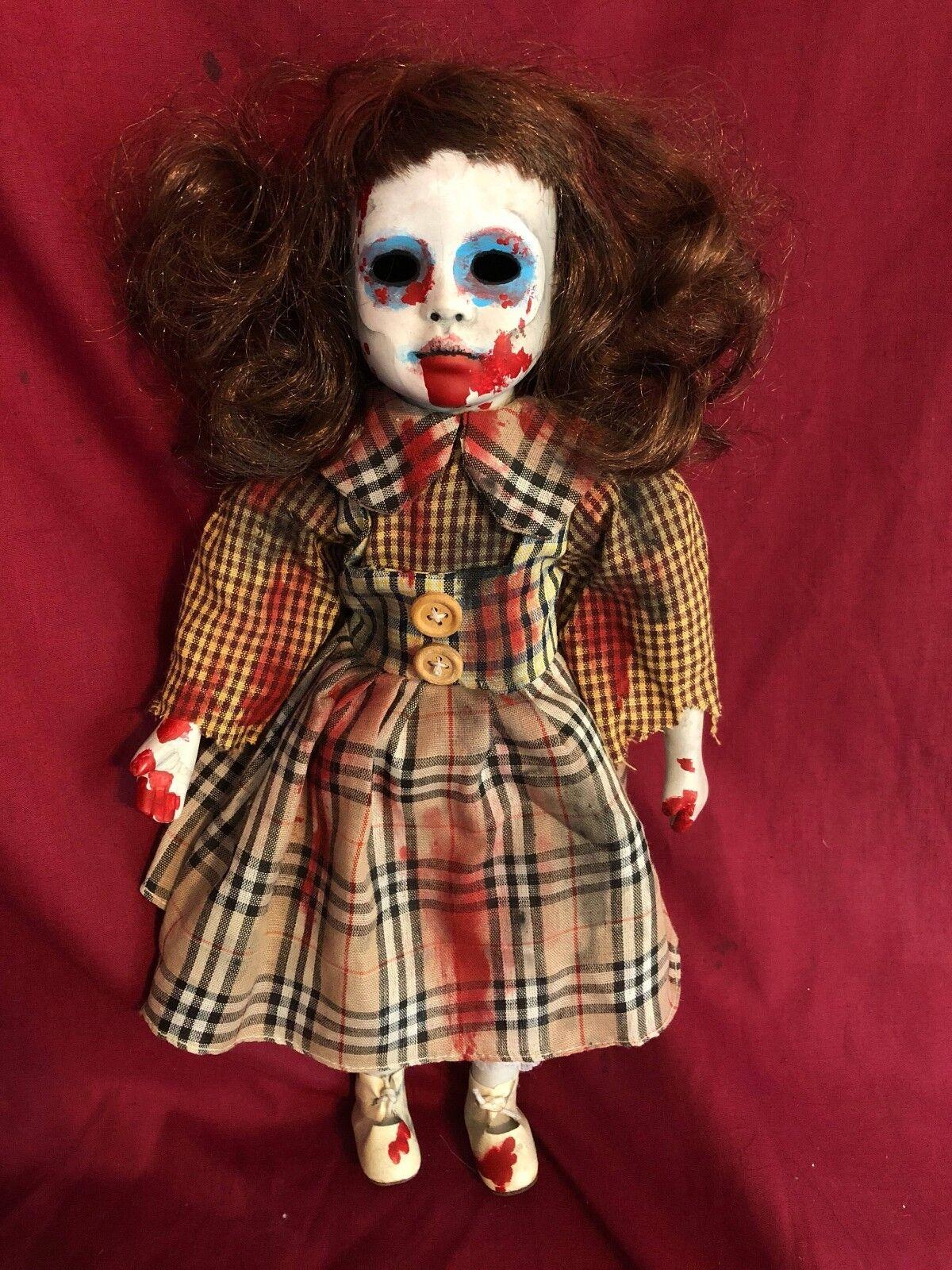 OOAK gótico escalofriante Horror Zombie Niño no-muertos Muñeca Arte por Christie creepydolls