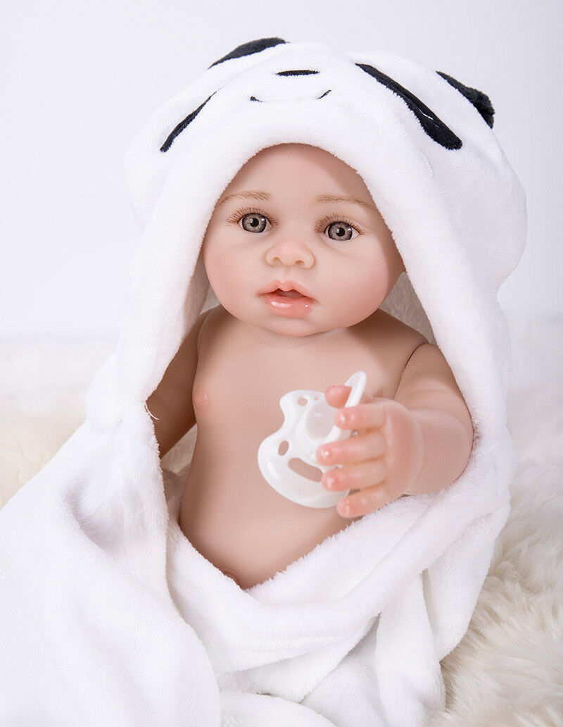 18  completo in silicone morbido vinile RINATO Baby doll ragazza Capelli Disegno Giocattolo Bambini Regali