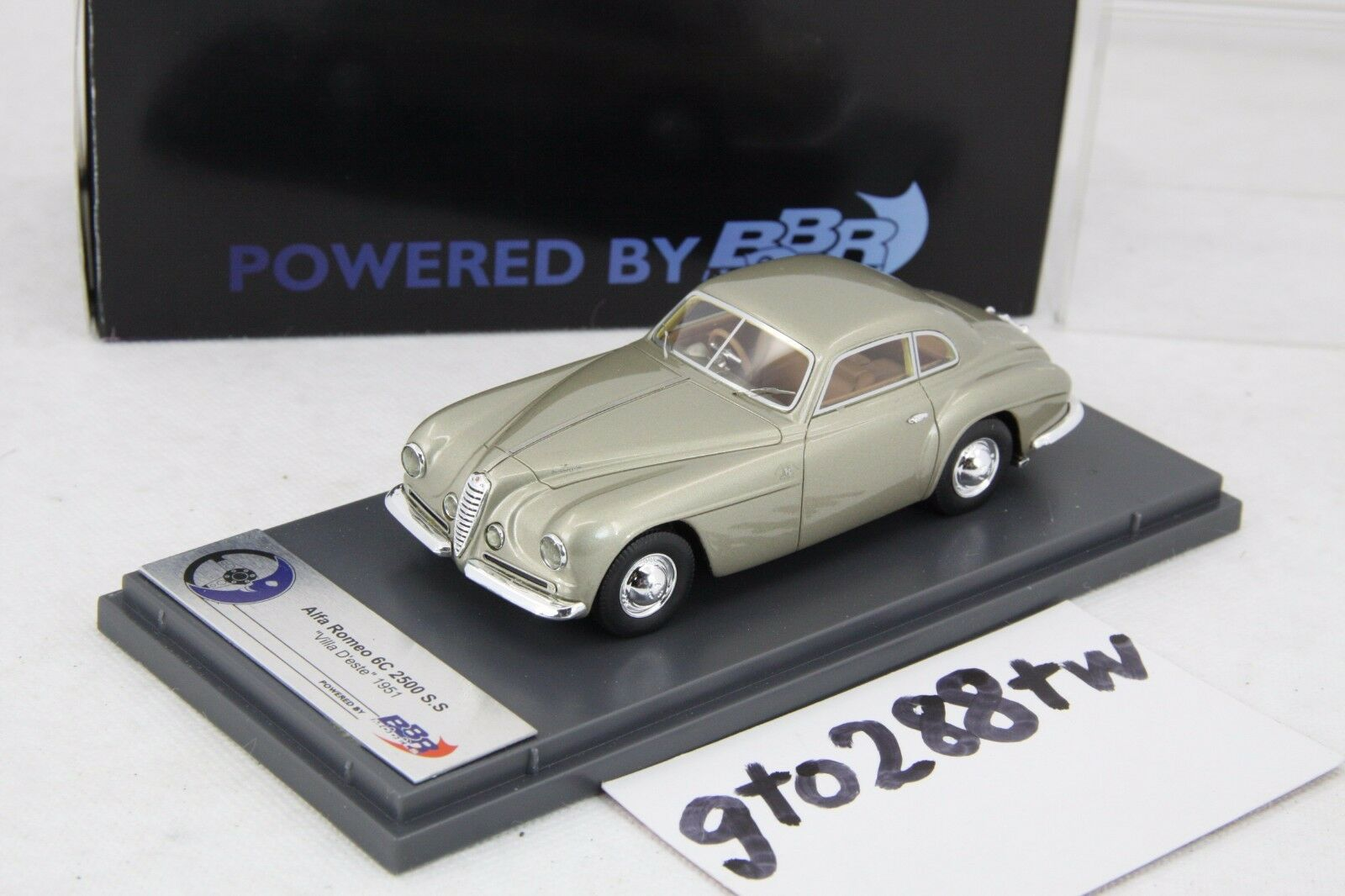 BBR 1:43 scale Alfa Romeo 6C 2500 S.S Villa D'este 1951(Light Gold) - L.E 100pcs