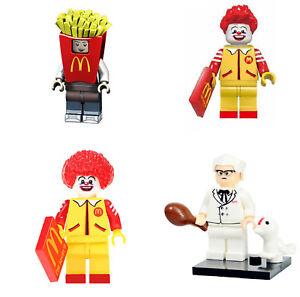 Alimentation Mini Figure Nouveau Vendeur Britannique S'adapte Major Brand Blocs Briques Ronald Mcdonald-afficher Le Titre D'origine T3lay24e-07184040-884069851