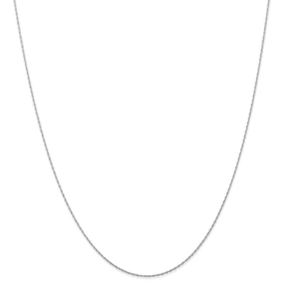 14kt White gold .5 mm (CARDED) Cable Rope Chain; 18 inch